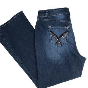 Lane Bryant Midrise Embellished Jeans Bootcut 16